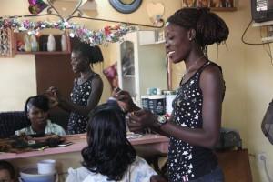 Sali, responsable locale microcrédits à Ouagadougou