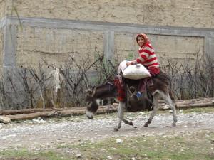 Voyage solidaire au Kirghizstan - enfant sur âne