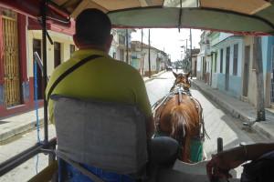 Voyage utile à Cuba - Charrette taxi à Santa-Clara