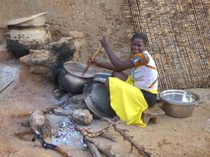 Rencontre au Bénin - Préparation de la pâte