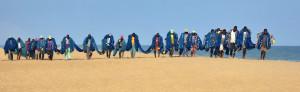 Voyage solidaire Bénin - Pêche au filet à Grand-Popo