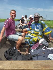 Voyage solidaire Bénin - Arrivée en pirogue à Ketonou
