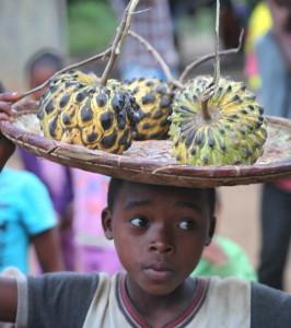 Train - Entre Fianarantsoa et Manakara (Vendeuse Pommes Cannelles)